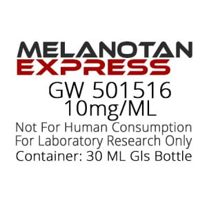 GW501516 SARMS liquid research chemical product label