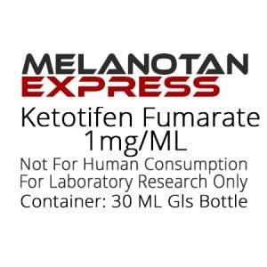 Ketotifen Fumarate liquid research chemical product label