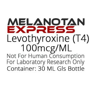 Levothyroxine T4 liquid research chemical product label