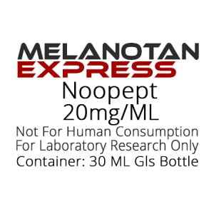 Noopept liquid research chemical product label