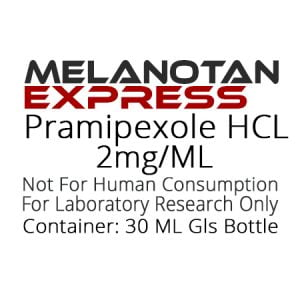 Pramipexole HCL liquid research chemical product label