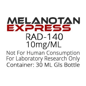 RAD-140 SARMS liquid research chemical product label