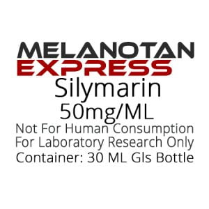 Silymarin liquid research chemical product label