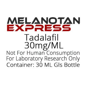 Tadalafil liquid research chemical product label