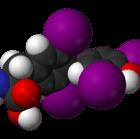 Levothyroxine 3D Molecule Structure