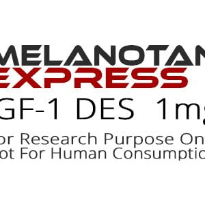 IGF-1 DES peptide product label