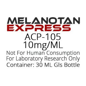ACP-105 liquid research chemical product label