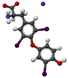 Liothyronine Liquid research chemical 3D structure made in USA