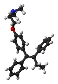 Tamoxifen 3Liquid research chemical 3D structure made in USA