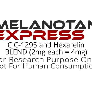 CJC-1295 and Hexarelin peptide blend product label