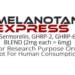 Sermorelin, GHRP-2, GHRP-6 peptide blend product label