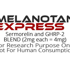 Sermorelin and GHRP-2 peptide blend product label