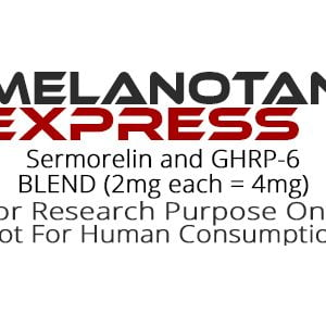 Sermorelin and GHRP-6 peptide blend product label